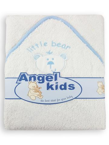 Hooded towel - Little bear (blue/pink)