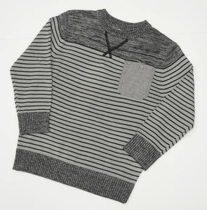 Grey striped knit jumper