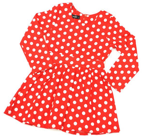 Red spotted dress