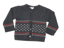 Load image into Gallery viewer, Designed cardigan (red/navy)