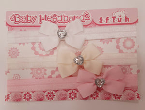 Headbands (Pkt of 3 - lace/ribbon)