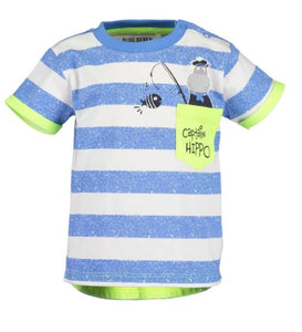 Striped hippo t-shirt
