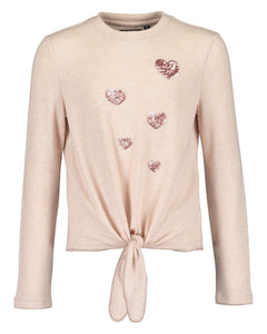 Hearts soft knitted jersey