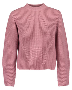 Knitted top (cream/pink)