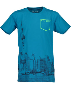 T-shirt with print (available in blue and lime)