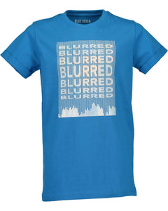 T-shirt with print (blue or black)