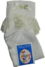 Load image into Gallery viewer, Socks with frill (white or ivory)