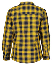 Load image into Gallery viewer, Checked mustard and blue shirt