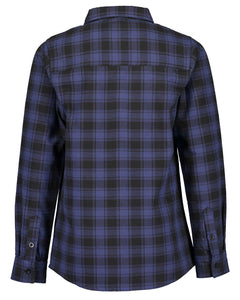 Checked blue and black shirt