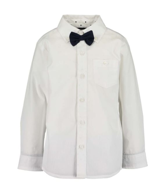 White shirt with bow