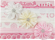 Load image into Gallery viewer, Headbands (pkt of 3 - lace/ribbon)
