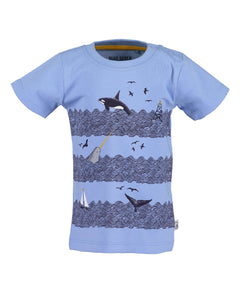 T-shirt with print (grey or blue)