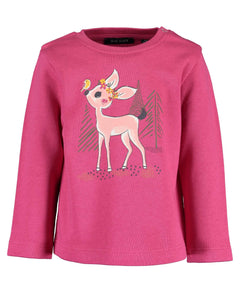 Pink deer sweater