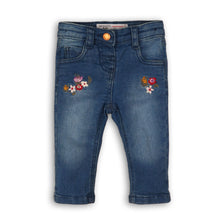Load image into Gallery viewer, Jeans with flowers