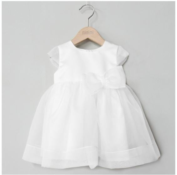 Dress with organdy bow