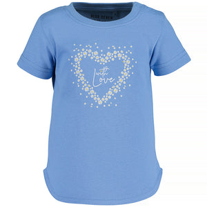 T-shirt with flowered heart