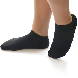 Oztas trainer socks pkt of 3 (black/ white)
