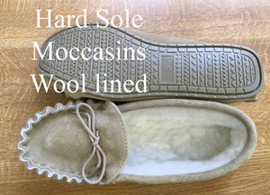 Hard Sole Moccasin Slippers