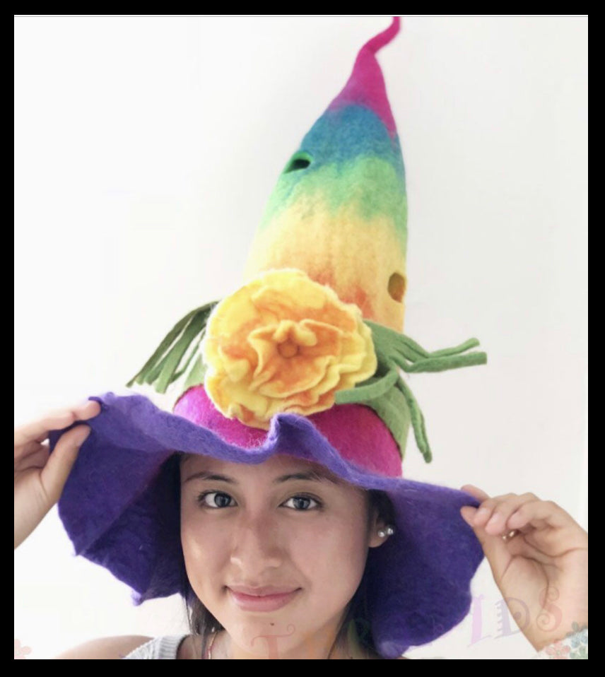 Hat - Rainbow Wizard