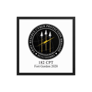 182 CPT Fort Gordon 2020 | ARCPB Framed poster