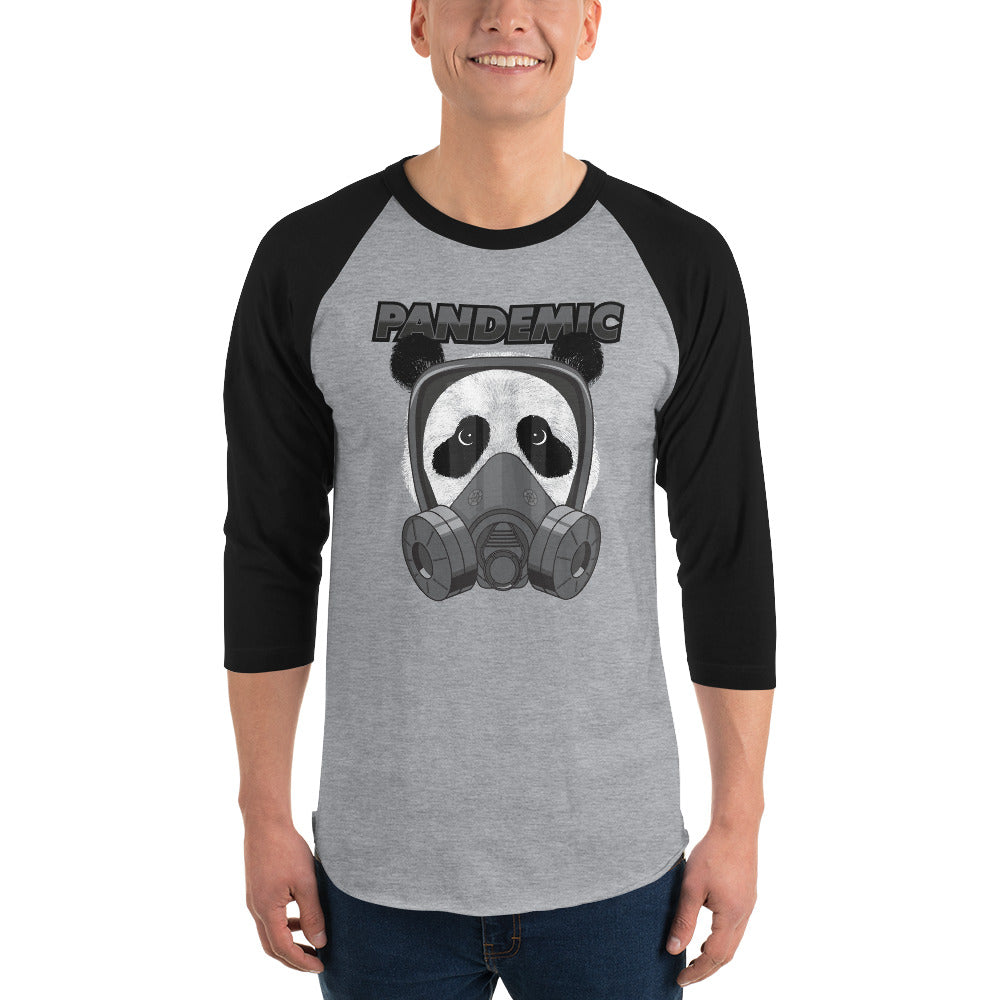 Panda Pandemic 3/4 sleeve raglan shirt