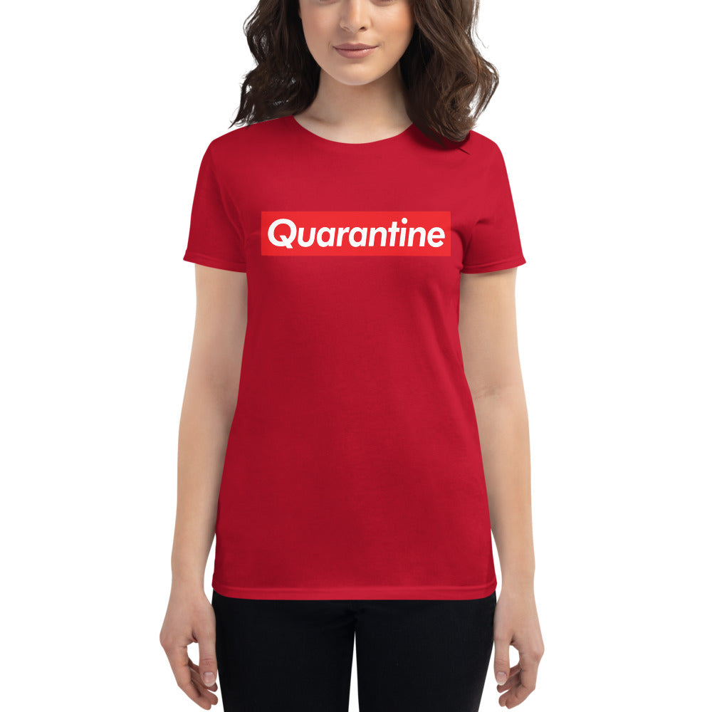 QUARANTINE SUPREME - CORONAVIRUS 2020 Women's Fit Short Sleeve Tee