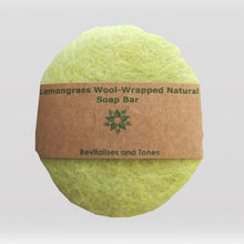 Load image into Gallery viewer, Wool Soap - Lemongrass Wool-wrapped Natural Soap Bar