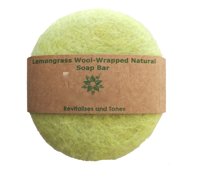Wool Soap - Lemongrass Wool-wrapped Natural Soap Bar