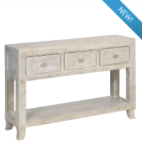 Load image into Gallery viewer, Natural wood console table