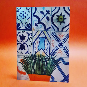 <p>Holiday Tiles Holiday Plants<br>Card by Liz Lyons</p>