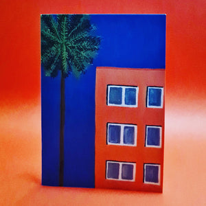 <p>Tower Block Dreams<br>Card by Liz Lyons</p>