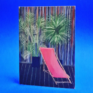 Deck Chair - Card by Liz Lyons