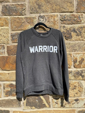 Grey Warrior French Terry Raglan Crewneck