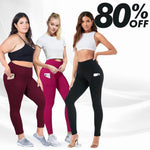 Load image into Gallery viewer, MAY PANTS – High Waist Stretch Tummy Booty Slimming Butt Lift Plus-Size Leggings with Pockets