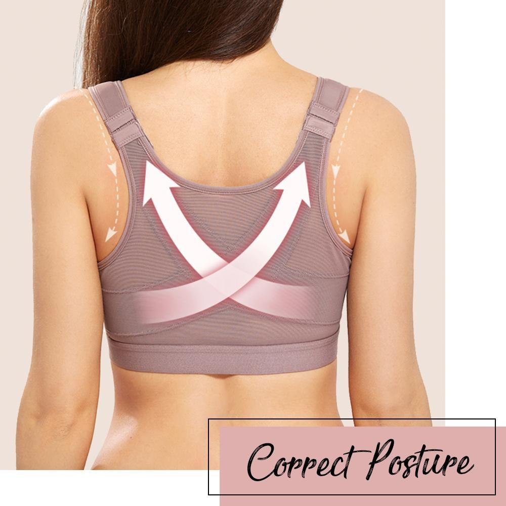 Best Plus Size Front Buckle Support Bra