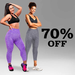 VicLeggings - High Waist Stretch Tummy Slimming Booty Lifting Solid Leggings