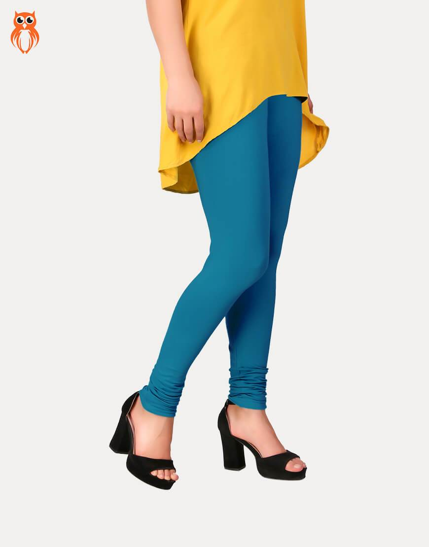 OWL18 Pagoda Blue Women Long Tight-Fitted Legging