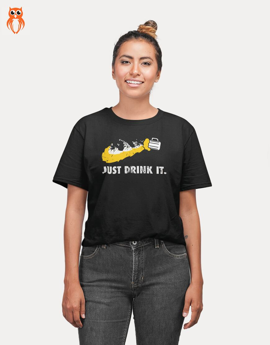 OWL18 Beer Just Drink It Women Graphic T-Shirt