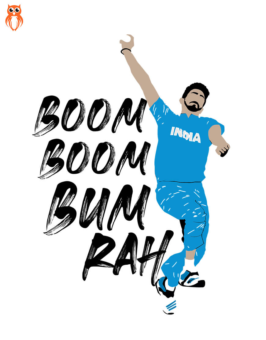 OWL18 Boom Boom Bumrah Men Graphic T-Shirt
