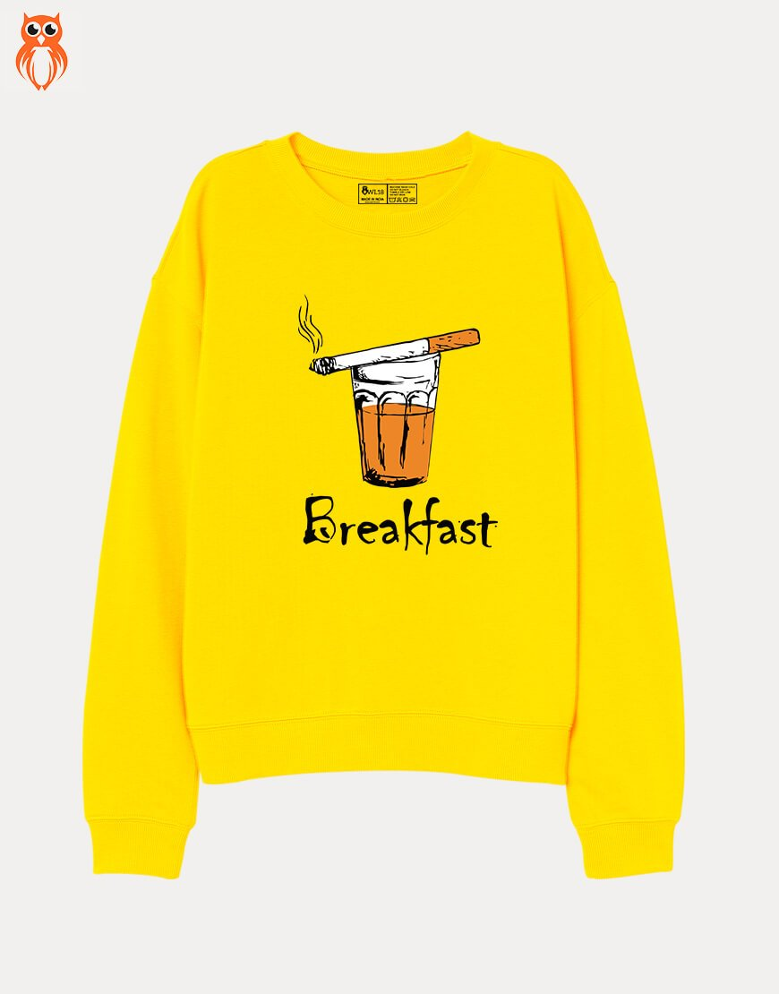 OWL18 Breakfast Men Graphic Sweatshirt