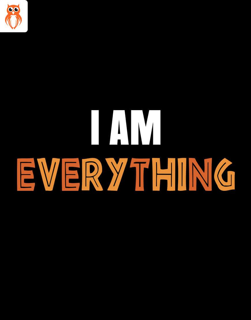 OWL18 I Am Everything Couple Graphic T-Shirt