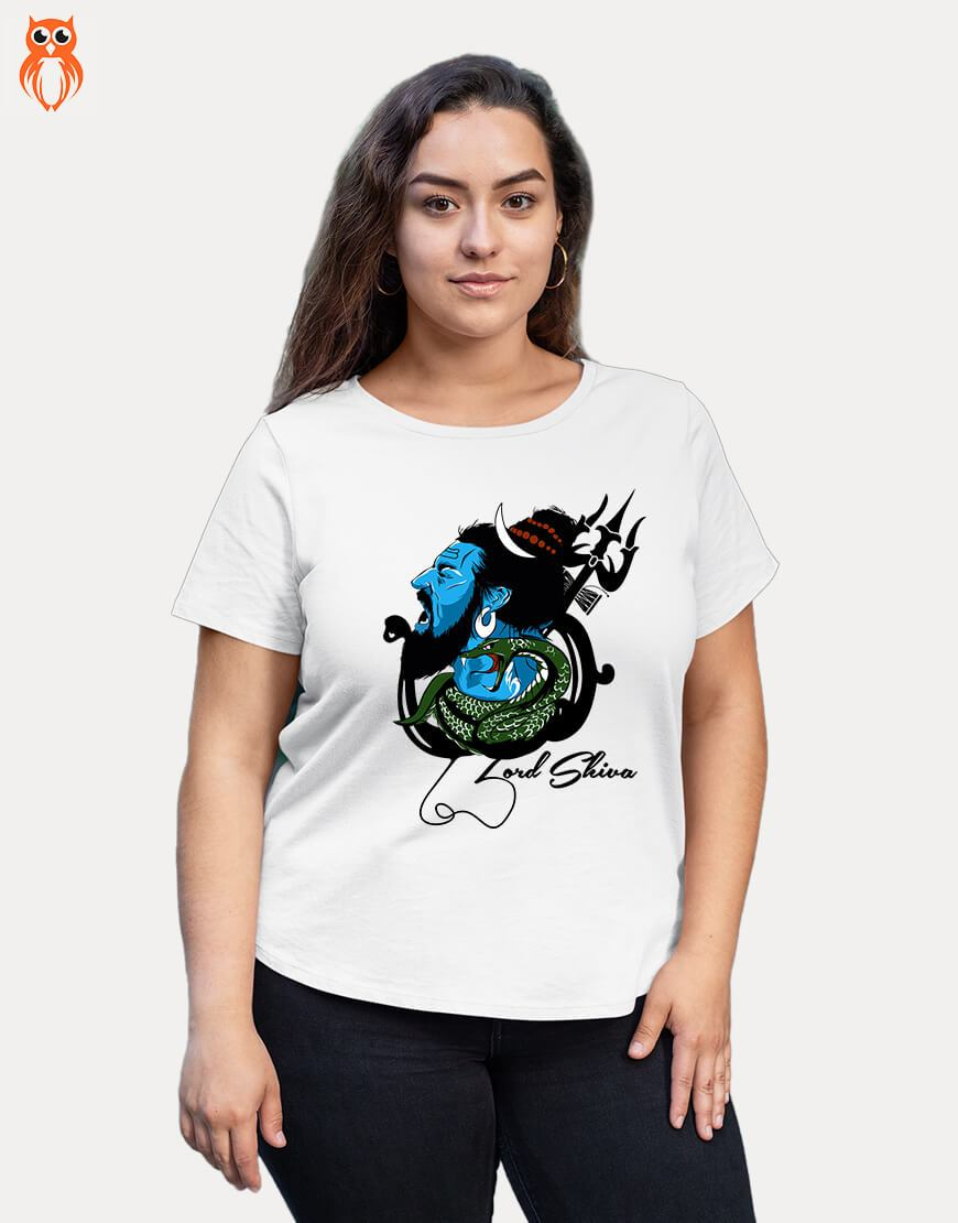 OWL18 Lord Shiva Plus Size Women Graphic T-Shirt