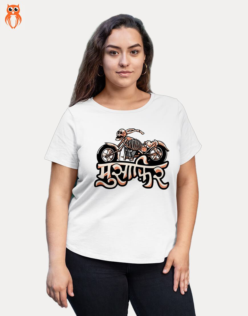 OWL18 Musafir Plus Size Women Graphic T-Shirt