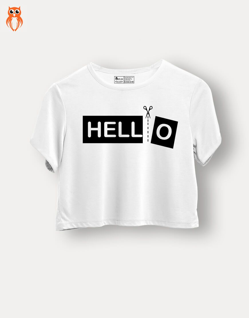 OWL18 Hello Graphics Crop Top