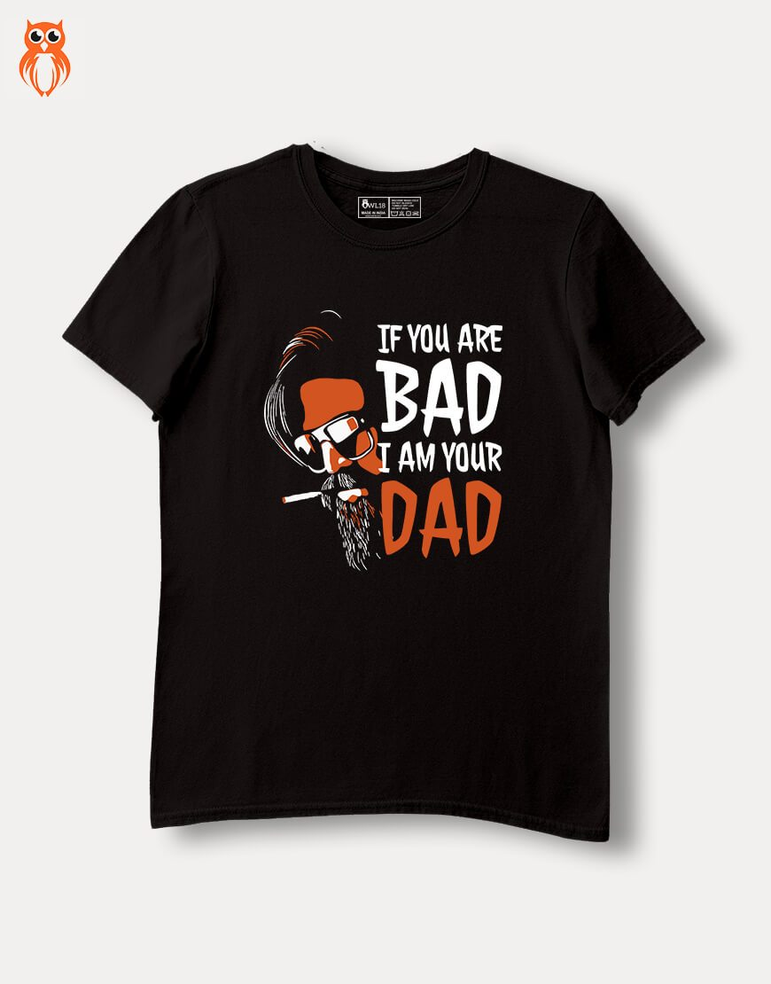 OWL18 Musafir Bad Dad Combo Men Graphic T-Shirts