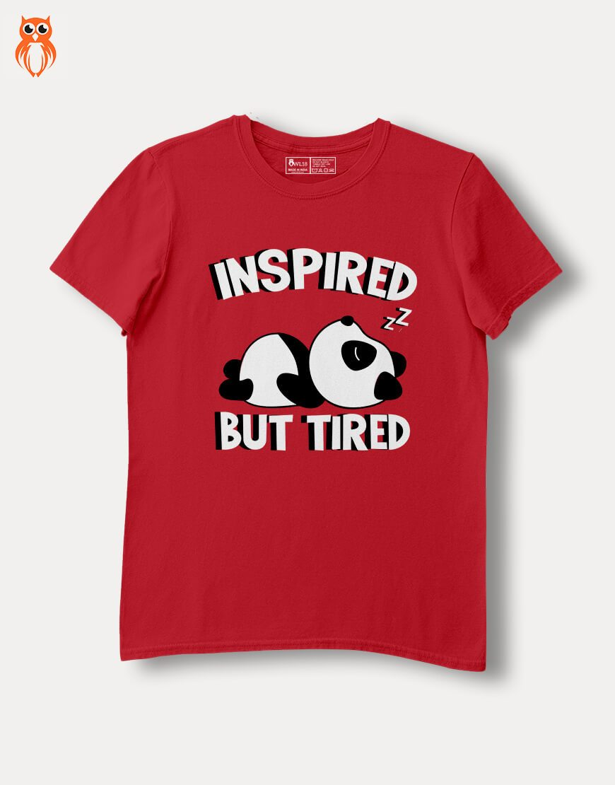 OWL18 Inspired But Tired Women Graphic T-Shirt