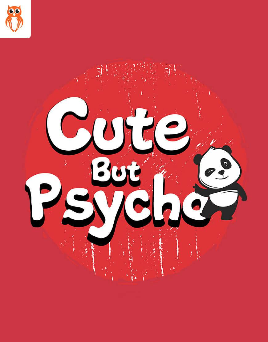 OWL18 Psycho But Cute Couple Graphic T-Shirt