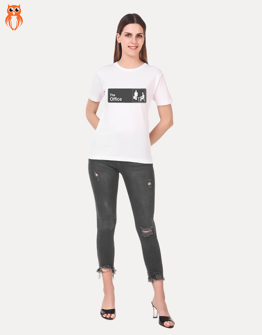 OWL18 The Office Women Graphic T-Shirt