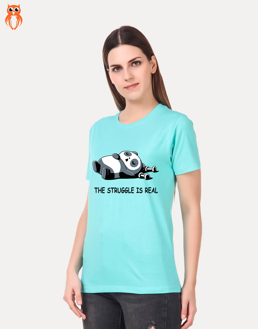 OWL18 The Struggle is Real Women Graphic T-Shirt