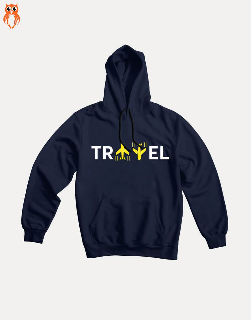 OWL18 Travel Men Graphic Hoodie